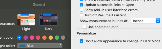 Why did my microsoft word theme turn black on macbook
