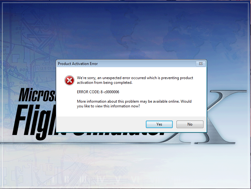 HELP FSX ERROR CODE:8-c0000006 - Microsoft Community