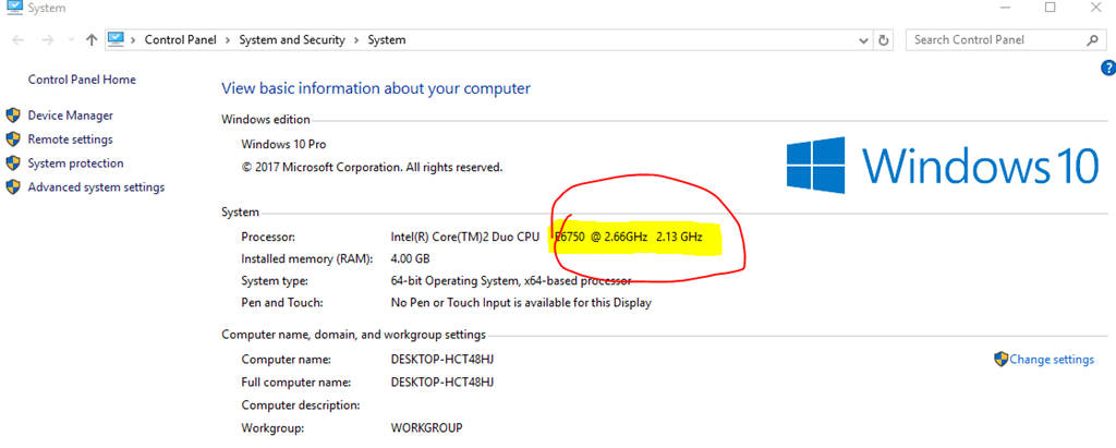 windows 10 is running slow, and cpu speed showing wrong microsoftProcessor Speed Slow #1