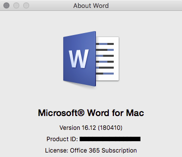 Word for Mac 16 2 error message