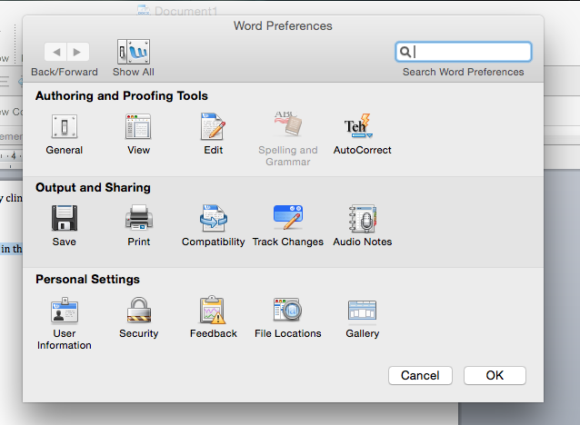 Microsoft Word for Spelling and Grammar checker in mac os x