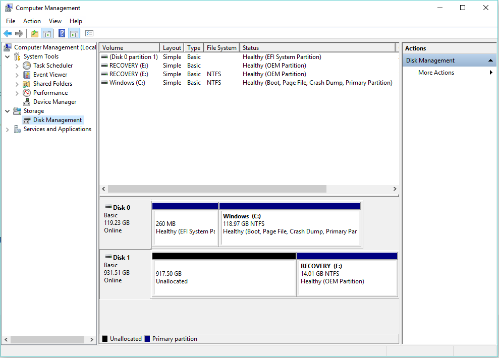 Windows 10 Disk Management - cannot extend C: drive to ...