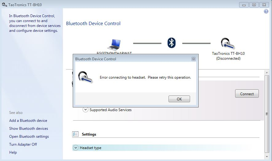 bluetooth software for pc to connect headset