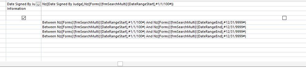 adding date range to multi-criteria search form (access
