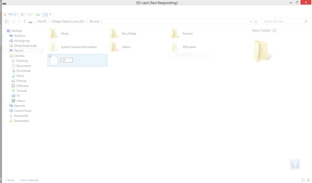 Windows 8/8 1 Explorer hangs when renaming a file through