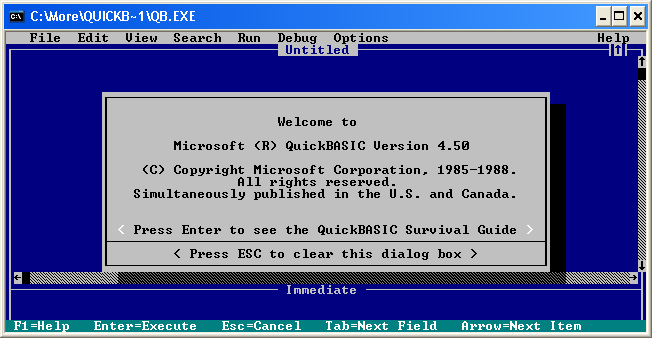 qbasic windows 7