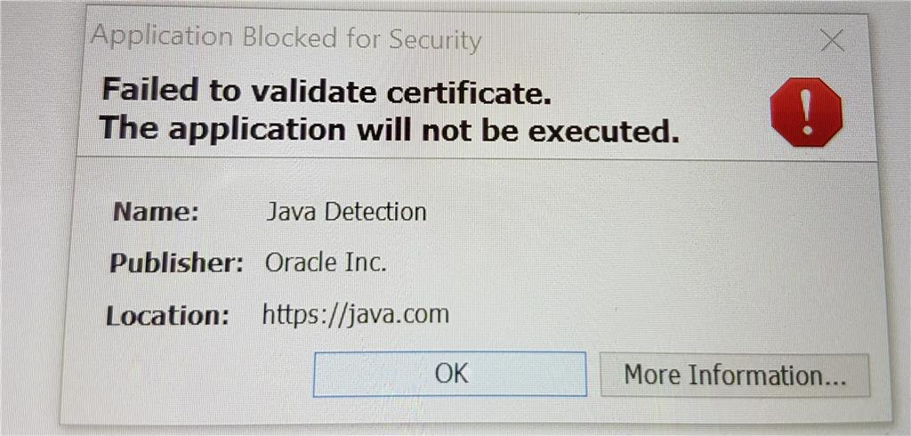 Java - Application Blocked or Security - Microsoft Community