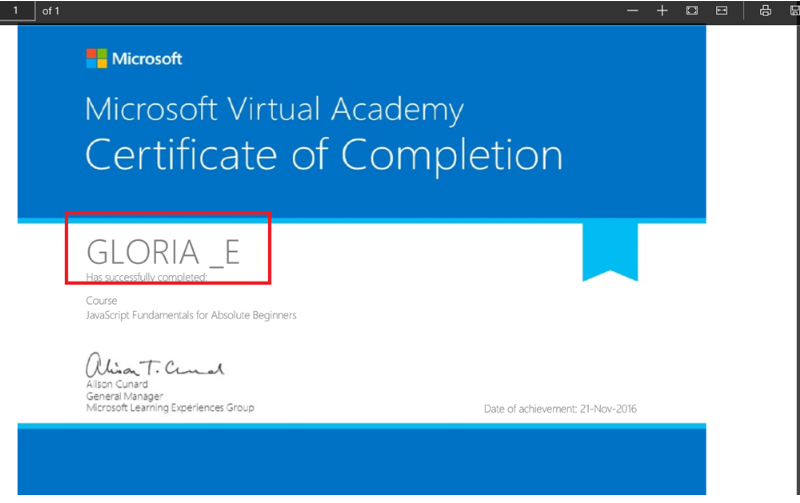 Certificate And Transcripts Name Missing Training Certification
