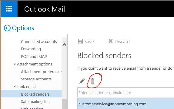 How Do I Unblock A Email Sender Microsoft Community