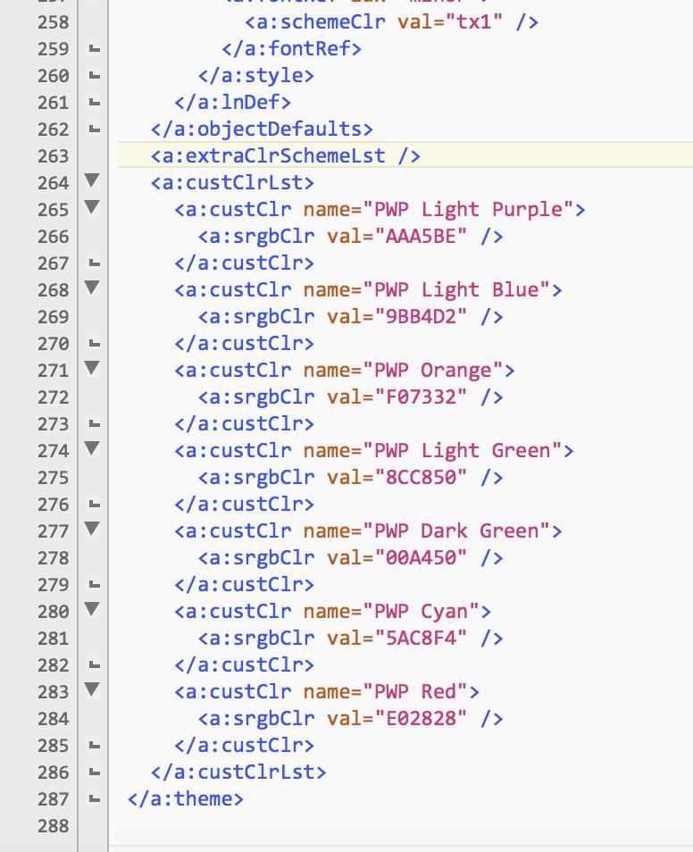 xml hack for custom colors microsoft community