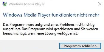 VLC stürzt beim Film gucken immer ab