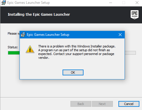 Fortnite There Is A Problem With This Windows Installer ...