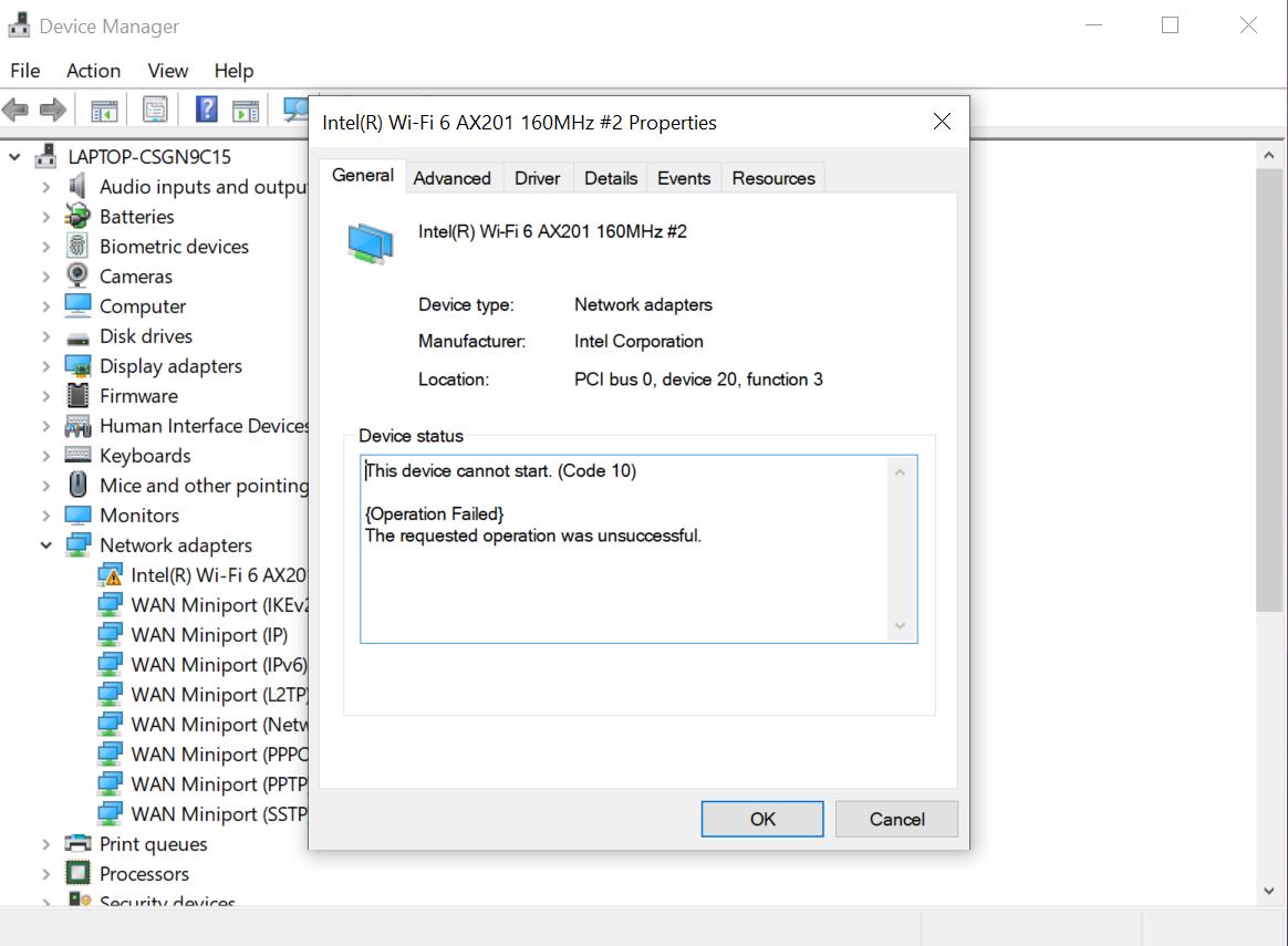 6 intel ax200 wi-fi