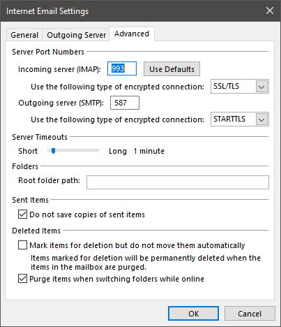 Outlook 2016 Will Not Send or Receive Gmail With Firewall