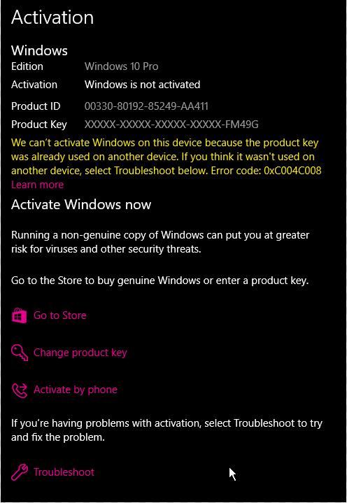windows 10 pro activation key 2018 amazon