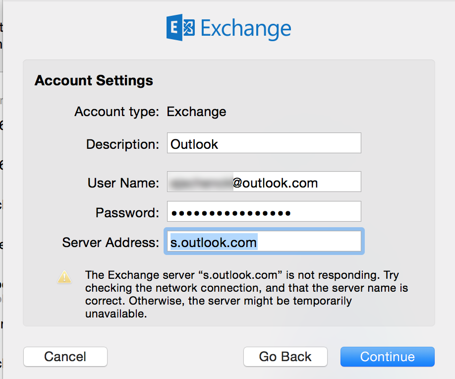 Apple Mail and Outlook 2016: Exchange server - Microsoft Community