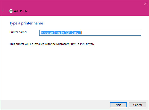 How to Add or Reinstall the Microsoft PDF Printer