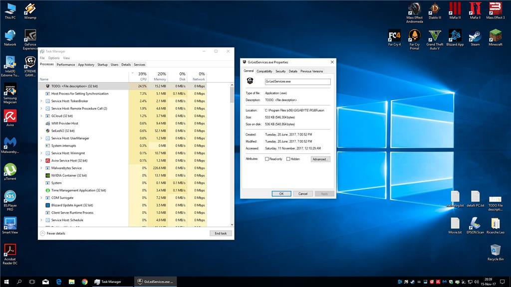 Problem with CPU, unusual usage, Todo File Description ( 32bits