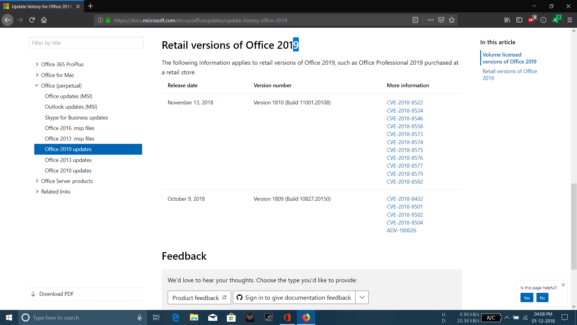 Office 2019 is offered O365 build  - Microsoft Community