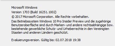 Build 16251.1002 ??