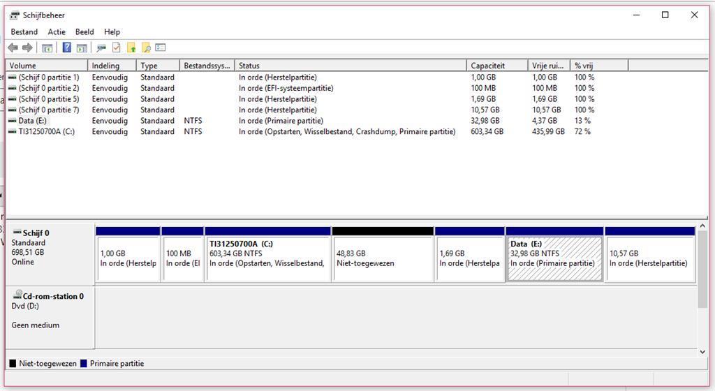 Partitie Wijzigen Windows 7.Hoe Kan Ik Mijn E Partitie Data Vergroten Microsoft