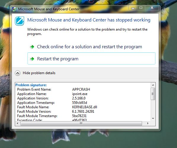 keyboard windows 7 not working
