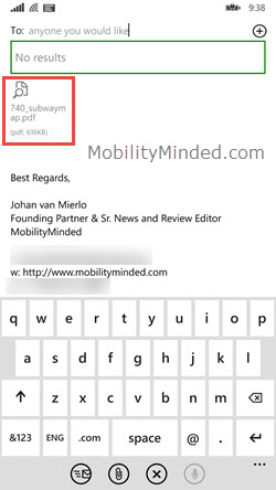 windows phone 7 email attachments download incomplete