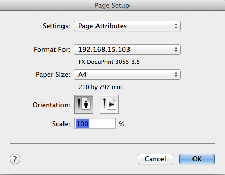 how to change paper size in word mac