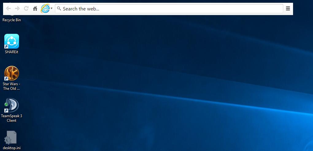 Internet Explorer bar is always on the top of my windows ...