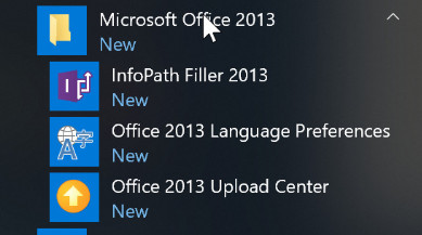 microsoft office 2013 icons missing
