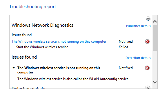 Wlan Autoconfig Error