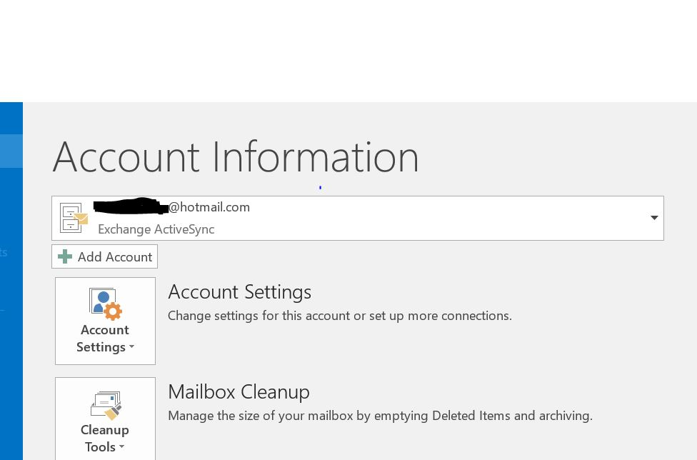 how to add hotmail account to outlook 2016