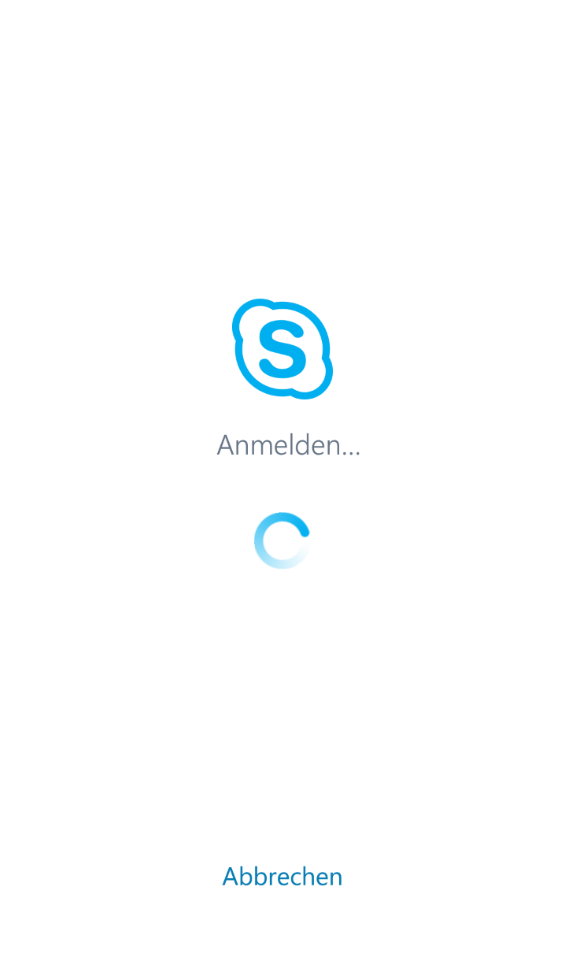 Skype for Business Anmeldung auf Android