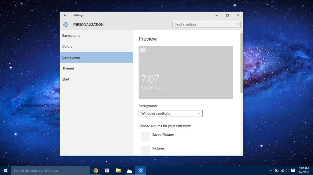 Can not change lock screen's picture in Windows 10