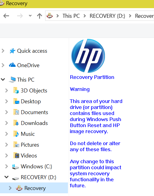 Lost all MP4 Video files and Recovery drive is full - Microsoft