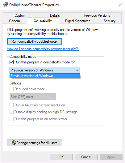 realtek high definition audio driver that is compatible with dolby home theater v4