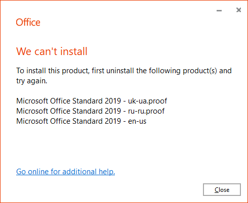 Cannot install Skype for Business with MS Office 2019 - Microsoft