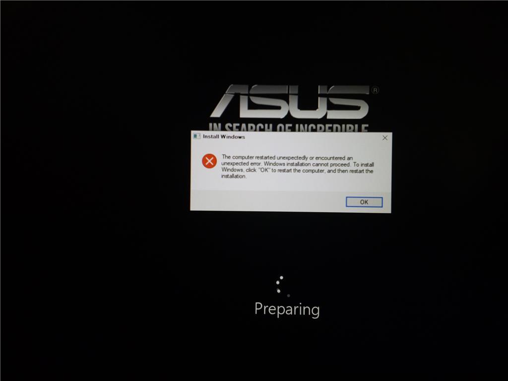 windows boot loop installation error - Microsoft Community