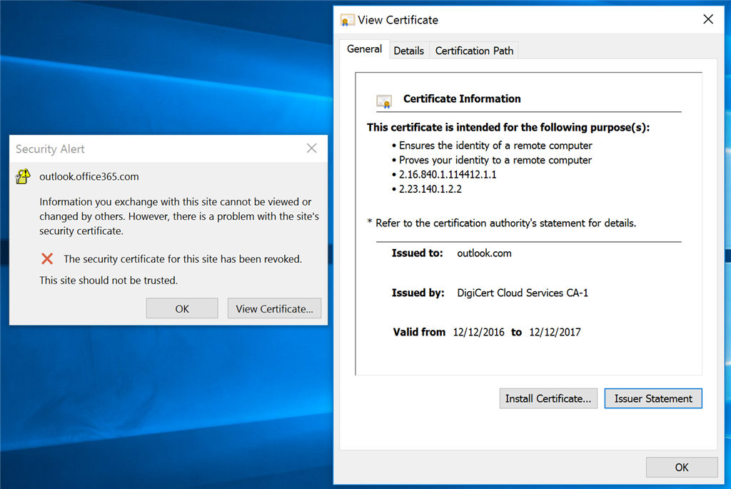 Outlook And Onedrive Stop Syncing With Ssl Errors Using A Surface