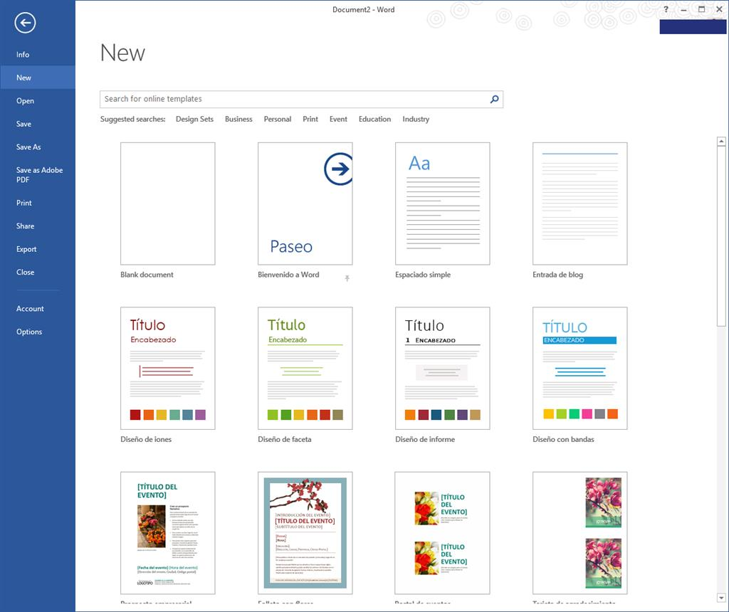 Template Titles Displaying In Spanish Microsoft Community