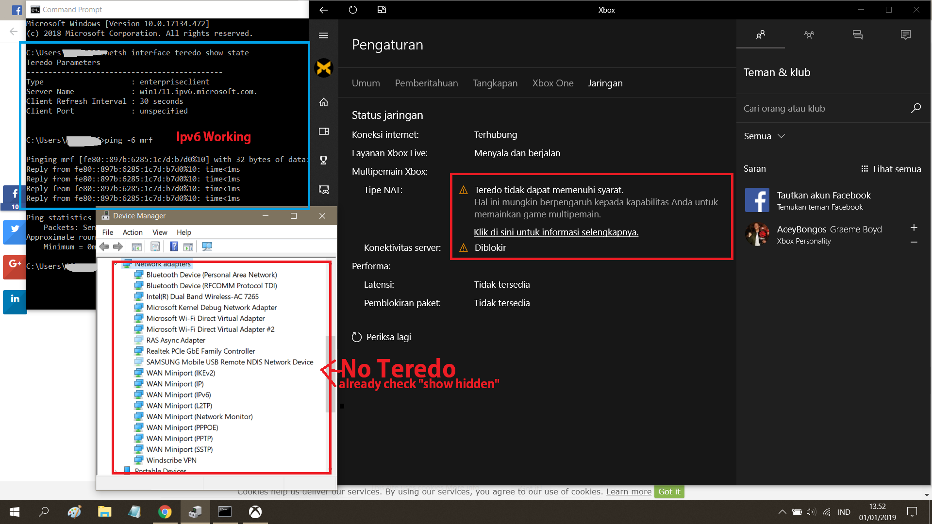 how to fix XBOX Windows: Teredo is unable to qualify