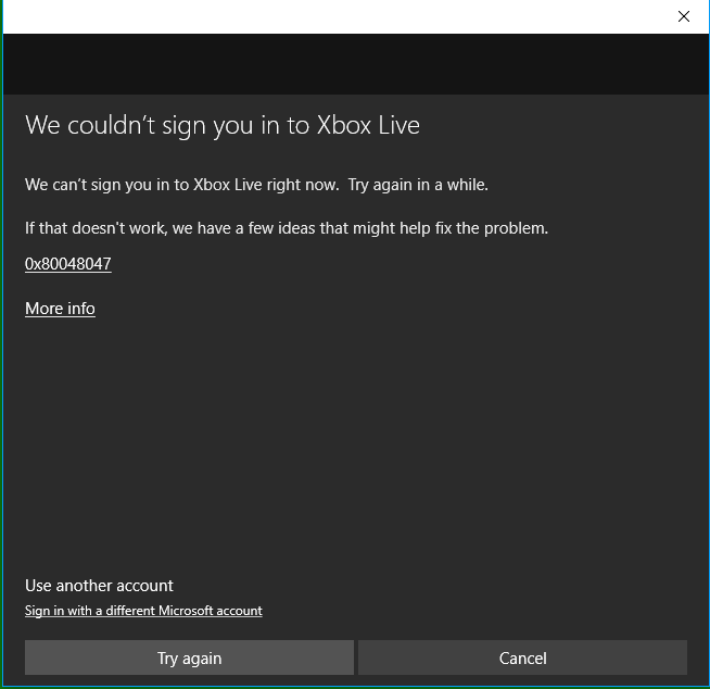 Can't sign into Xbox APP in Windows 10 - Microsoft Community