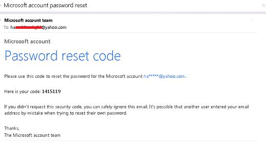 microsoft password reset doesnt work