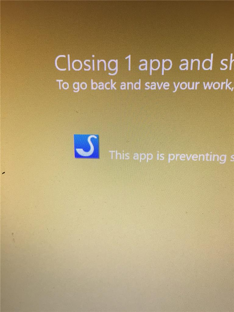 App with no name preventing shutdown. - Microsoft Community