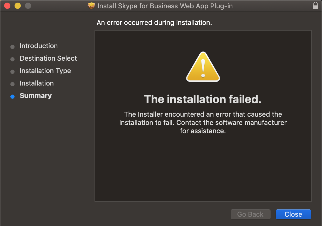 Skype for Business app and web app issues on OSX Mohave - Microsoft