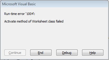 Excel 2013 Using Activate Method In Vba Code Not Working Microsoft Community