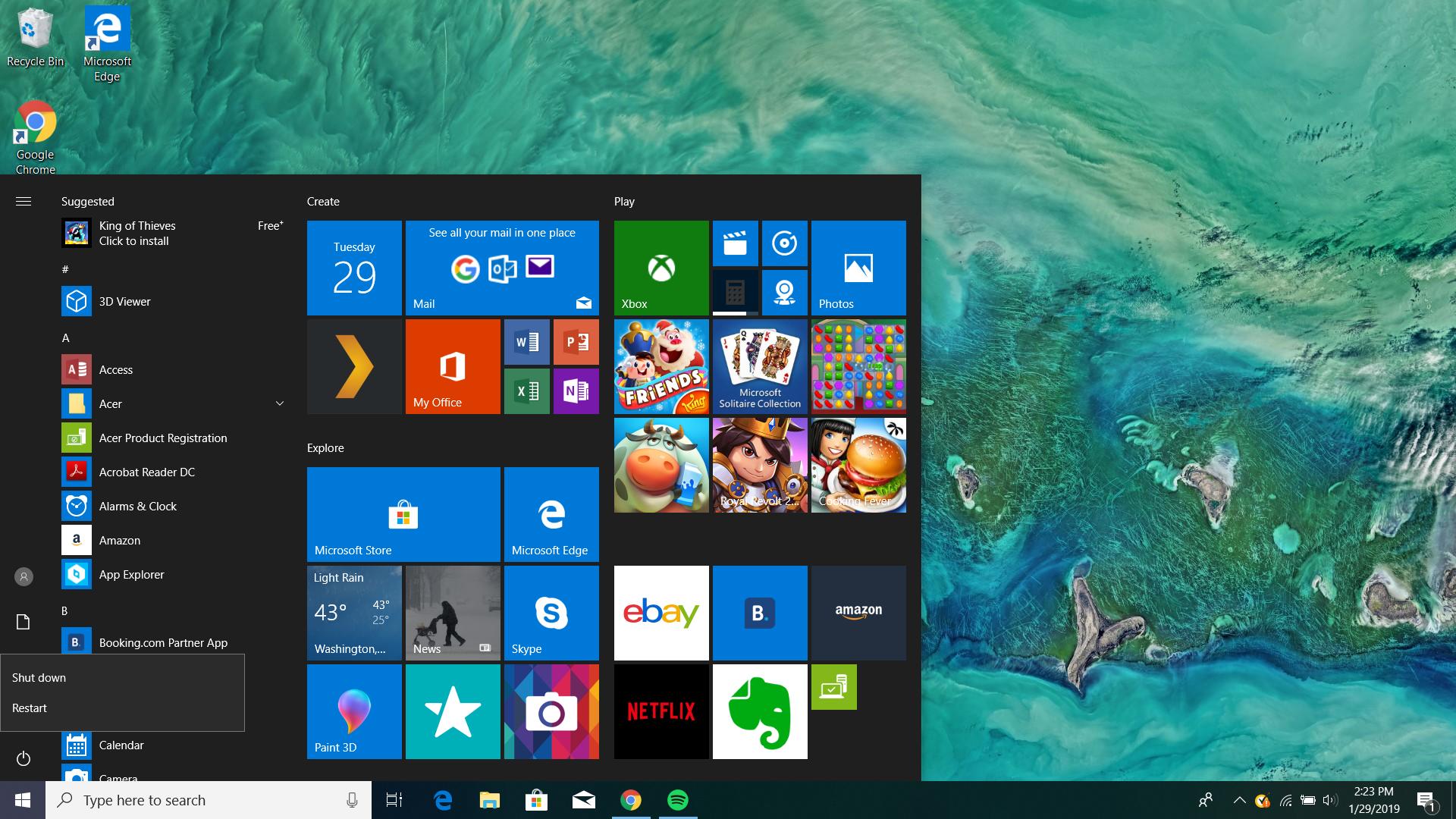 No Sleep Button in Start Menu After Windows 10 April 2019
