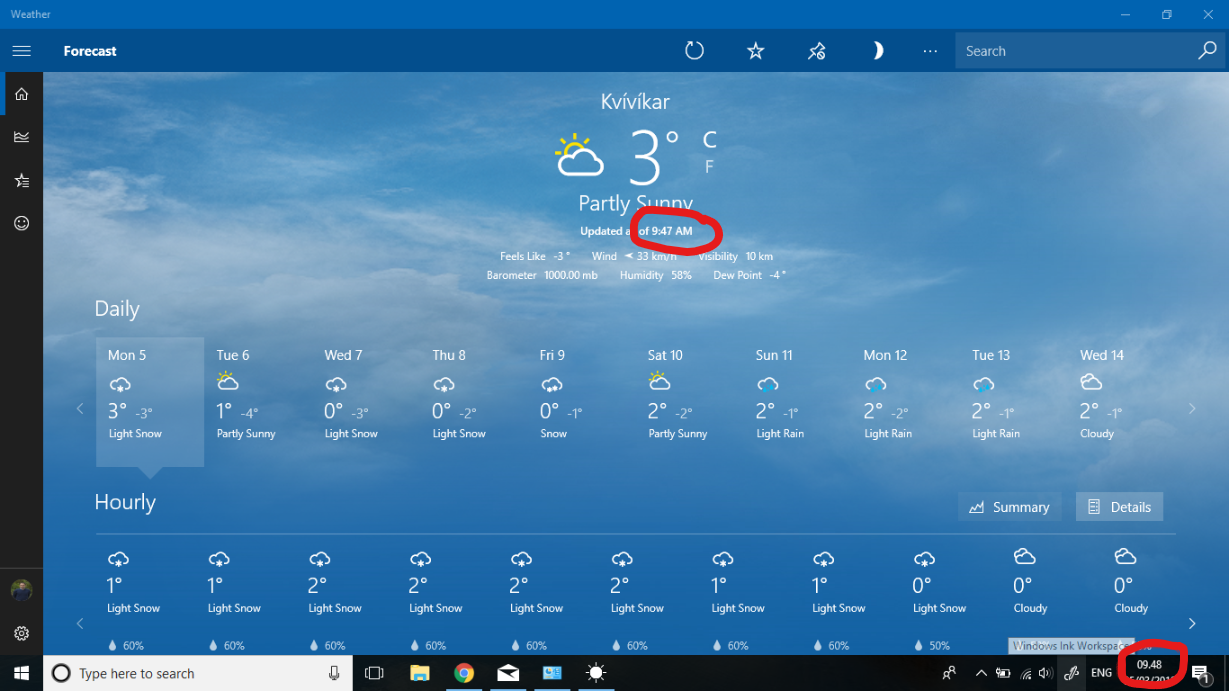 Any solution to the time formats in Weather App (for windows