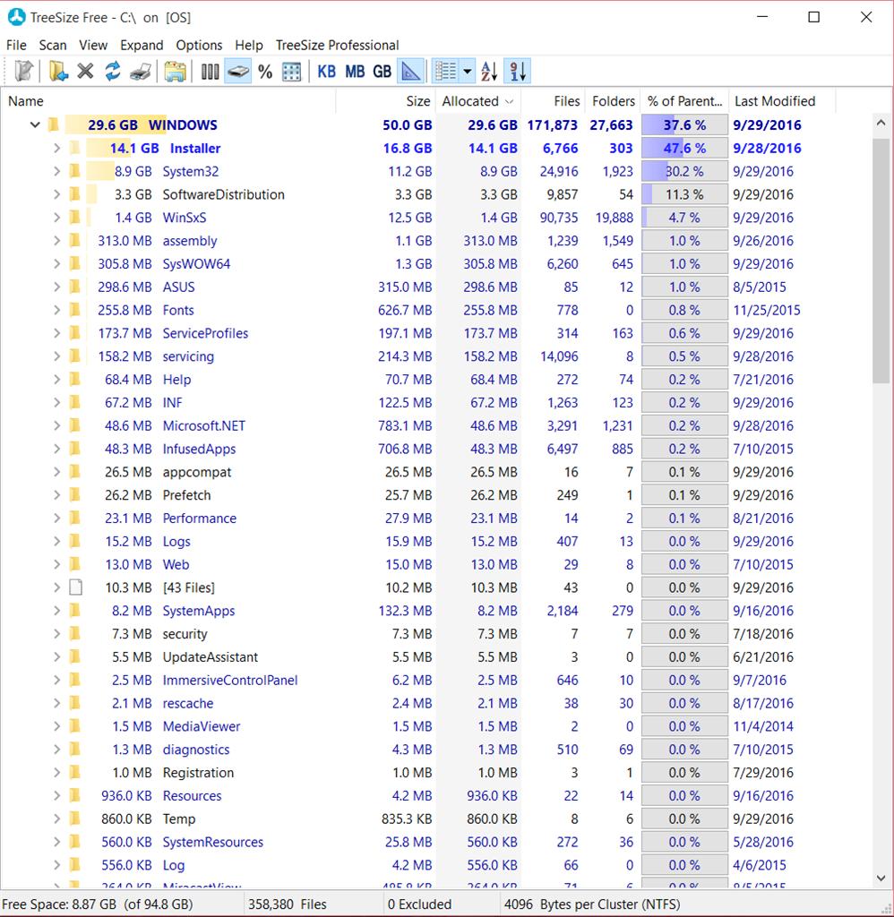 Windows Folder keeps on growing 50Gb! - Microsoft Community
