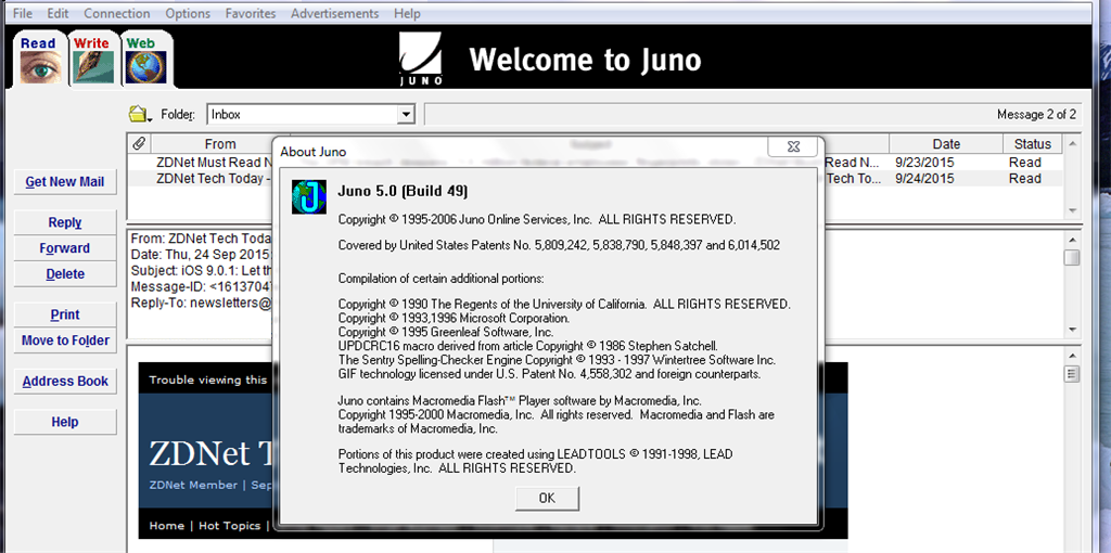 I Use Juno Email Not Webmail Microsoft Community